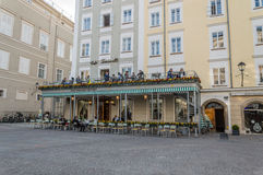 Terrass av ett kafé Royaltyfri Fotografi