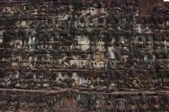 Terrass av spetälskkonungen, Angkor Thom Arkivfoton