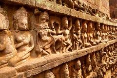 Terrass av spetälskkonungen, Angkor Wat, Cambodja Arkivfoto