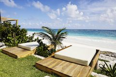 Terrass of a cabana Stock Photography