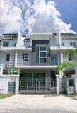 terrass för 3 storey Arkivbild