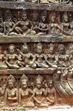 terrass för spetälsk för angkorcambodia konung royaltyfri bild