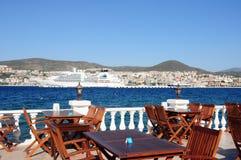terrass för fläck för matställekusadasi perfekt Royaltyfria Bilder