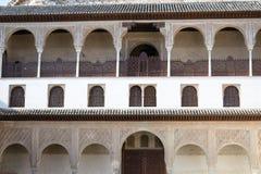 Terrass i Alhambra Arkivfoto