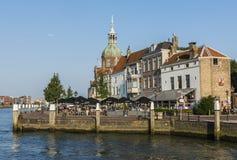 Terrass i Dordrecht Arkivbilder
