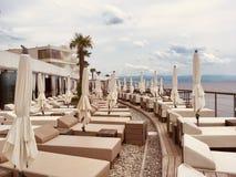 Terrass i Kroatien arkivfoton