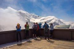 Terrass maximala Aiguille du Midi royaltyfri fotografi
