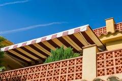 Terrass med pergolan Arkivbild