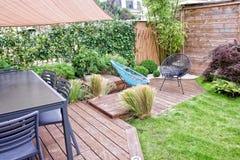 Terrass och trädgård Fotografering för Bildbyråer