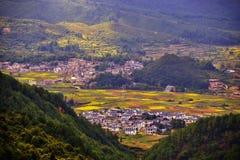 Terrass på det guizhou porslinet arkivbild