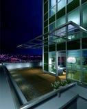 Terrass på natten Arkivfoto