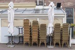 Terrass som göras upp ren för vinter Royaltyfri Bild