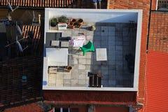 Terrasse在波隆纳,意大利 库存照片