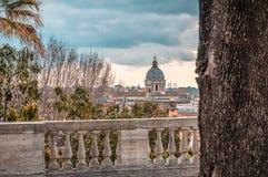 terrasse à Rome Photo libre de droits