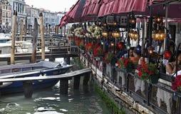 Terrasse à Venise Photos stock