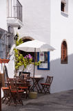 Terrasse andalouse à la source Image stock