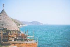 Terrasse auf Bambushütte Lizenzfreie Stockfotografie