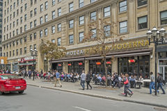 Terrasse auf McGill-Collegestraße Stockfotografie