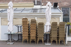Terrasse aufgeräumt für Winter Lizenzfreies Stockbild