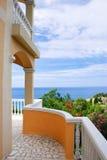 Terrasse avec la vue de mer Photo libre de droits