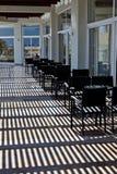 Terrasse d'hôtel moderne Photographie stock