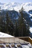 Terrasse dans la neige Image libre de droits