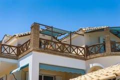 Terrasse de bel appartement Photo libre de droits