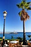 Terrasse de bord de la mer Photos libres de droits