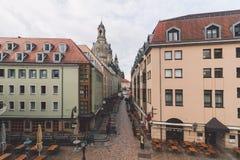 Terrasse de Bruhlsche que sorprende Fotos de archivo