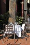 Terrasse de café photographie stock