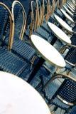 Terrasse de café de Paris Photographie stock