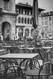 Terrasse de Como Photographie stock