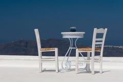 Terrasse de dessus de toit avec la vue Images libres de droits