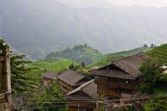 Terrasse de gisement de riz de Guilin Image libre de droits