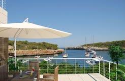terrasse de mer aux vues Images stock