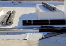 Terrasse de PVC d'imperméabilisation et d'isolation Image libre de droits