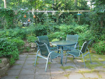 Terrasse de régfion boisée Photo stock