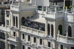 Terrasse de restaurant à Madrid du centre images libres de droits