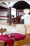 Terrasse de restaurant Photographie stock