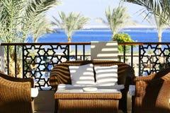 Terrasse de villa Image libre de droits
