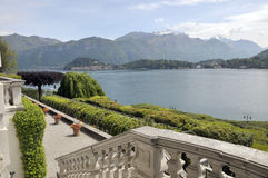 Terrasse de villa Carlotta sur le lac Como Image stock