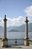 Terrasse de villa Melzi sur le lac Como Image libre de droits