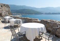 Terrasse de vue de mer de l'hôtel de luxe Photo libre de droits