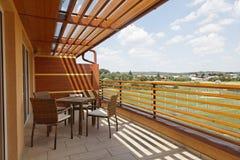 Terrasse an der Vivat Wohnung Lizenzfreie Stockbilder