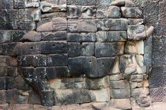 Terrasse des éléphants à Angkor Thom, Cambodge Photographie stock