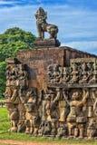Terrasse des éléphants, Angkor Thom Photographie stock