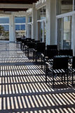 Terrasse des modernen Hotels Stockfotografie