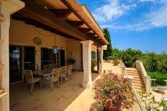 Terrasse des spanischen Hauses Lizenzfreies Stockbild