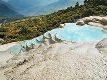 Terrasse des weißen Wassers Lizenzfreies Stockfoto