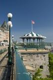 Terrasse devant le château Frontenac Photos stock